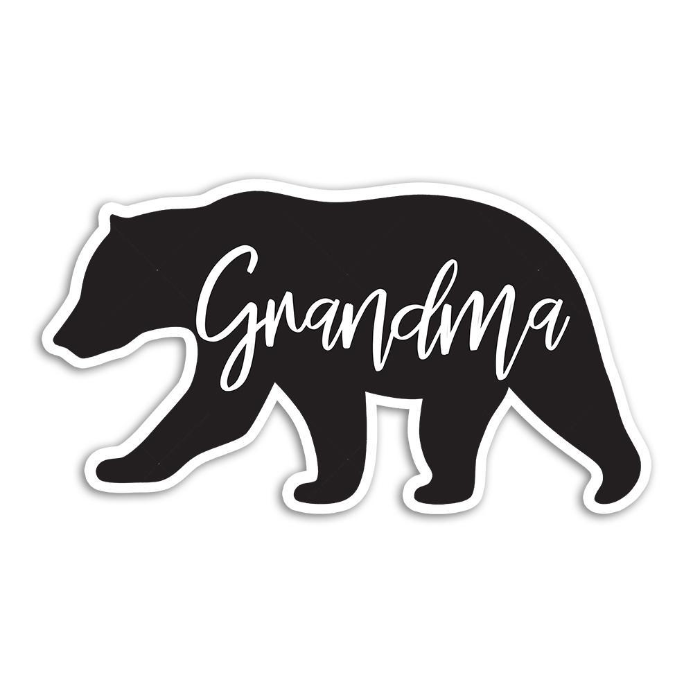 Grandma Bear : Gift Sticker Mothers Day Christmas Birthday Grandmother