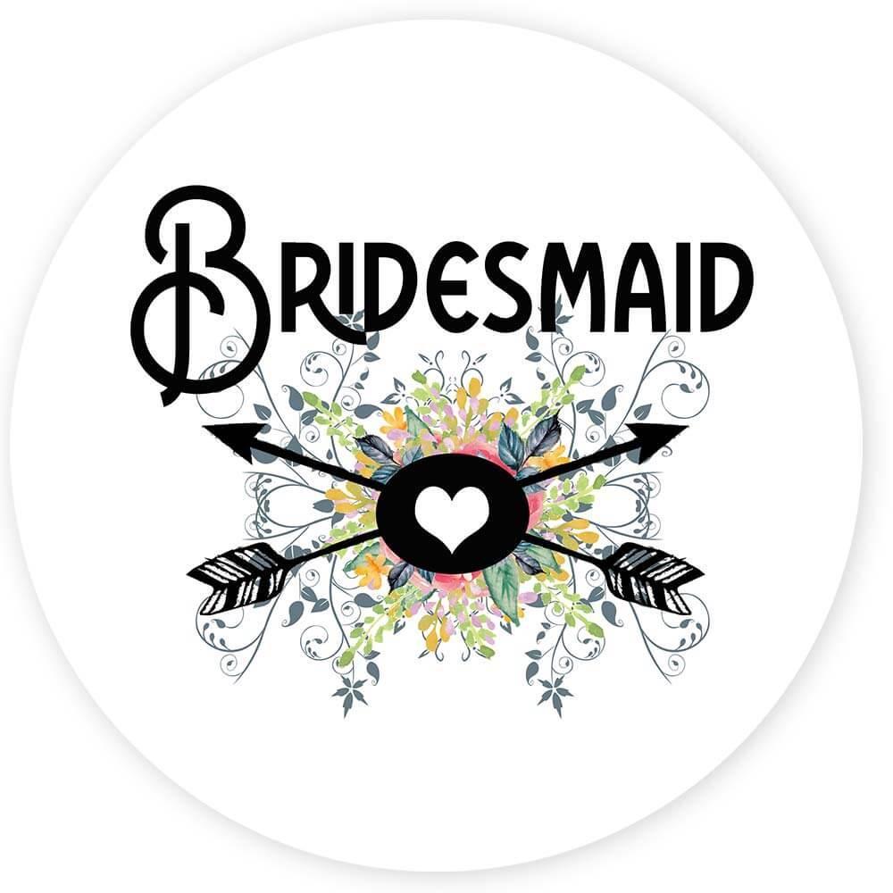 Bridesmaid : Gift Sticker Wedding Favors Bachelorette Bridal Party Engagement