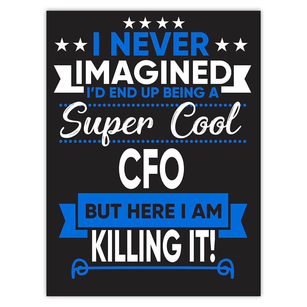 I Never Imagined Super Cool CFO Killing It : Gift Sticker Profession Work Job