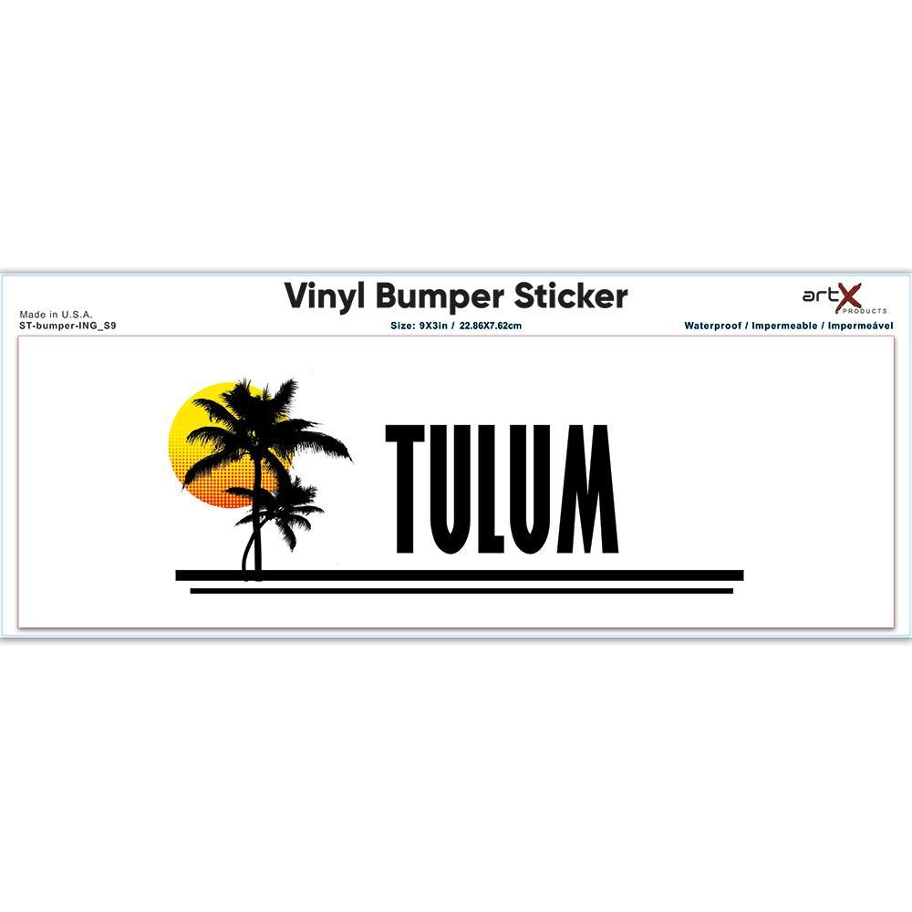 Tulum : Gift Sticker Mexico Tropical Beach Travel Souvenir
