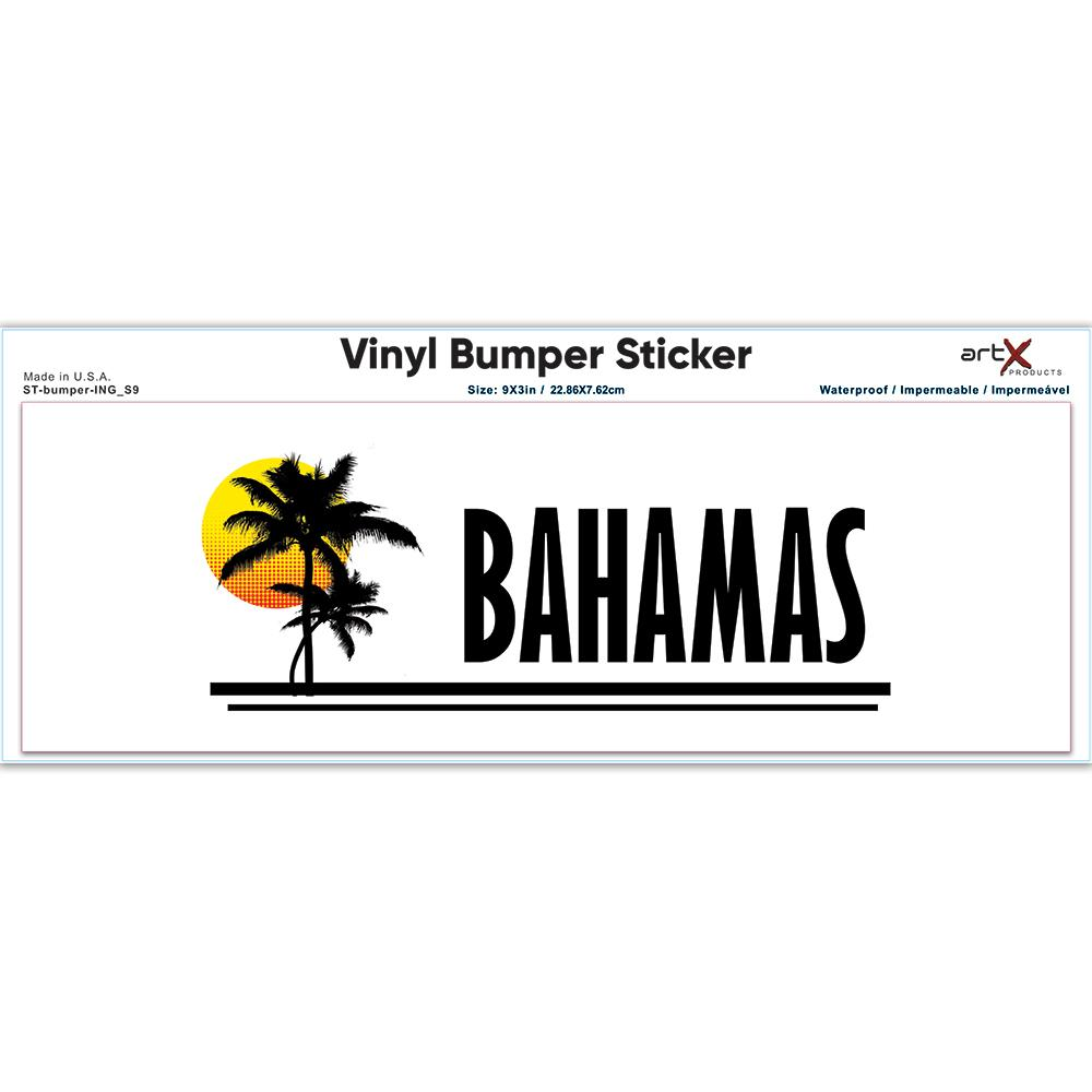 Bahamas : Gift Sticker Bahamas Tropical Beach Travel Souvenir