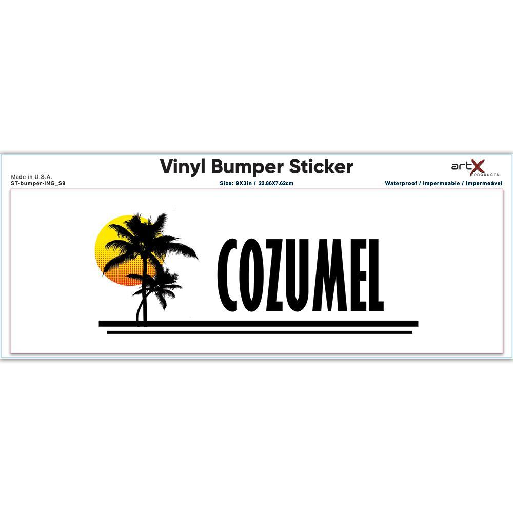 Cozumel : Gift Sticker Mexico Tropical Beach Travel Souvenir