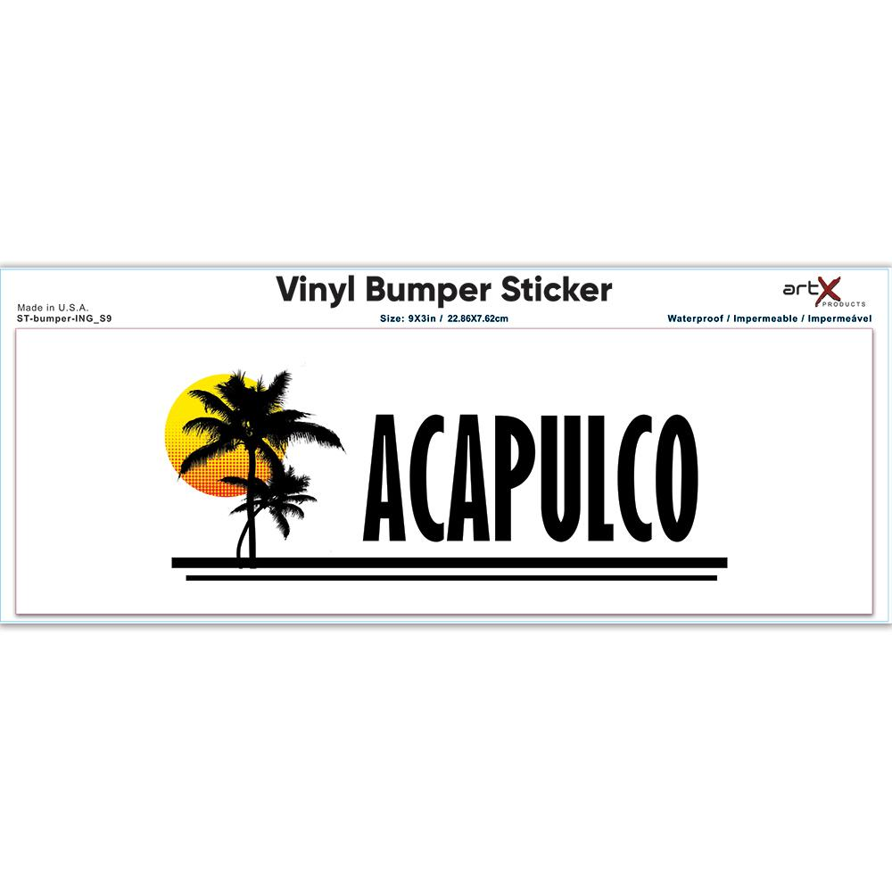 Acapulco : Gift Sticker Mexico Tropical Beach Travel Souvenir