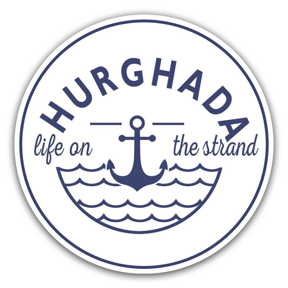 Hurghada Life on the Strand : Gift Sticker Beach Travel Souvenir Egypt