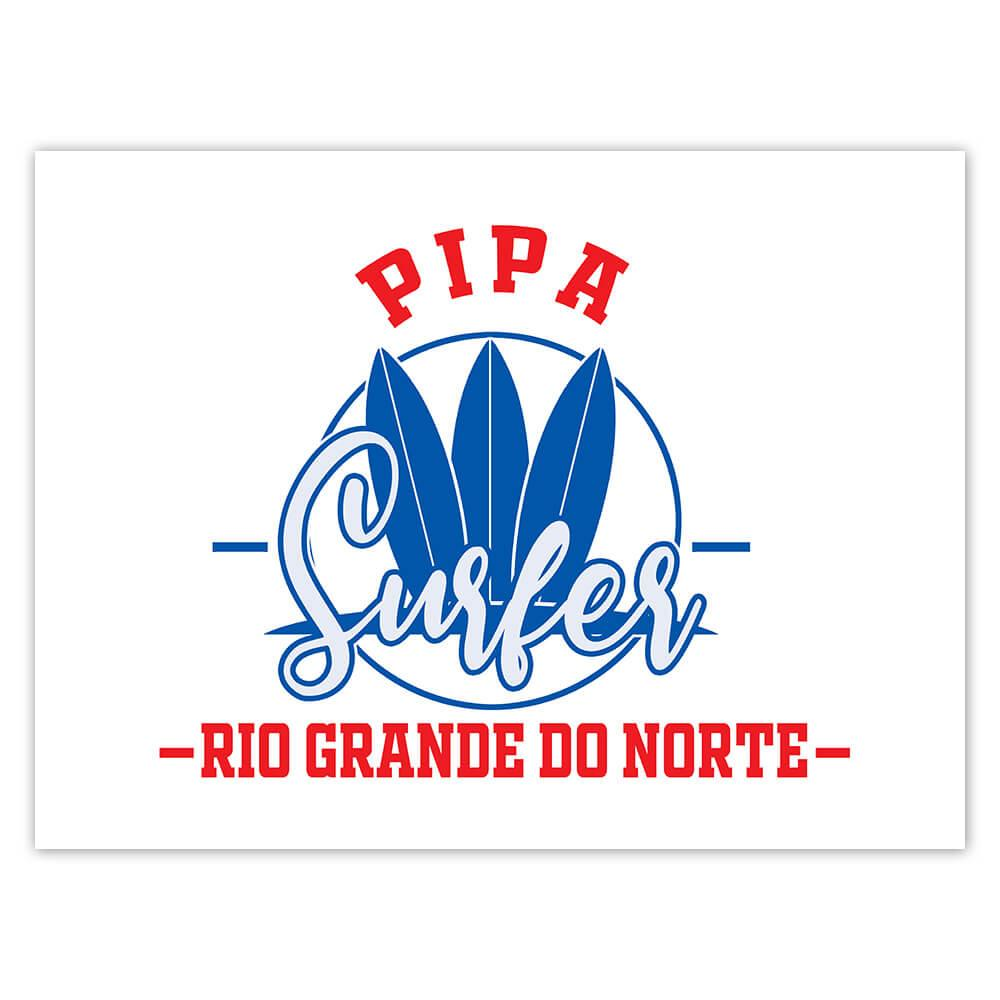Pipa Surfer Brazil : Gift Sticker Tropical Beach Travel Vacation Surfing
