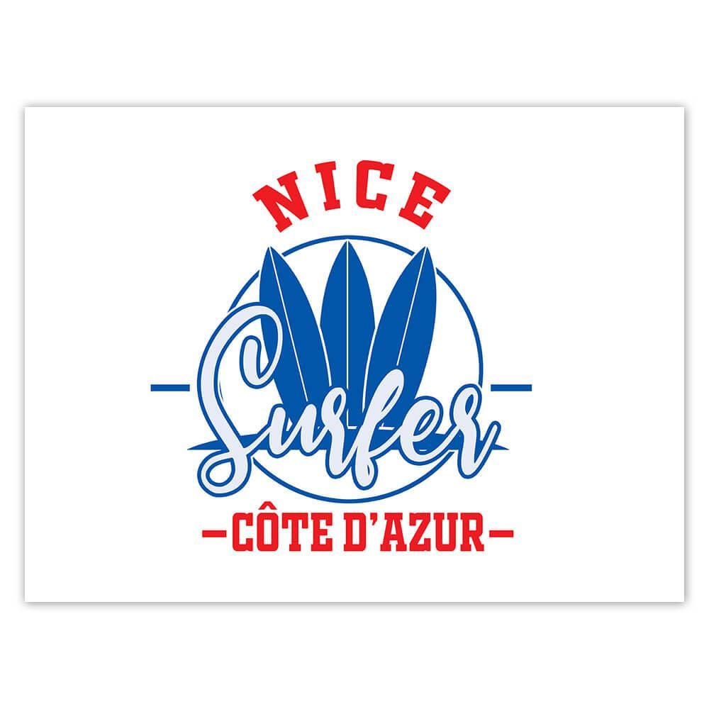 Nice France : Gift Sticker Surfer Tropical Souvenir Travel
