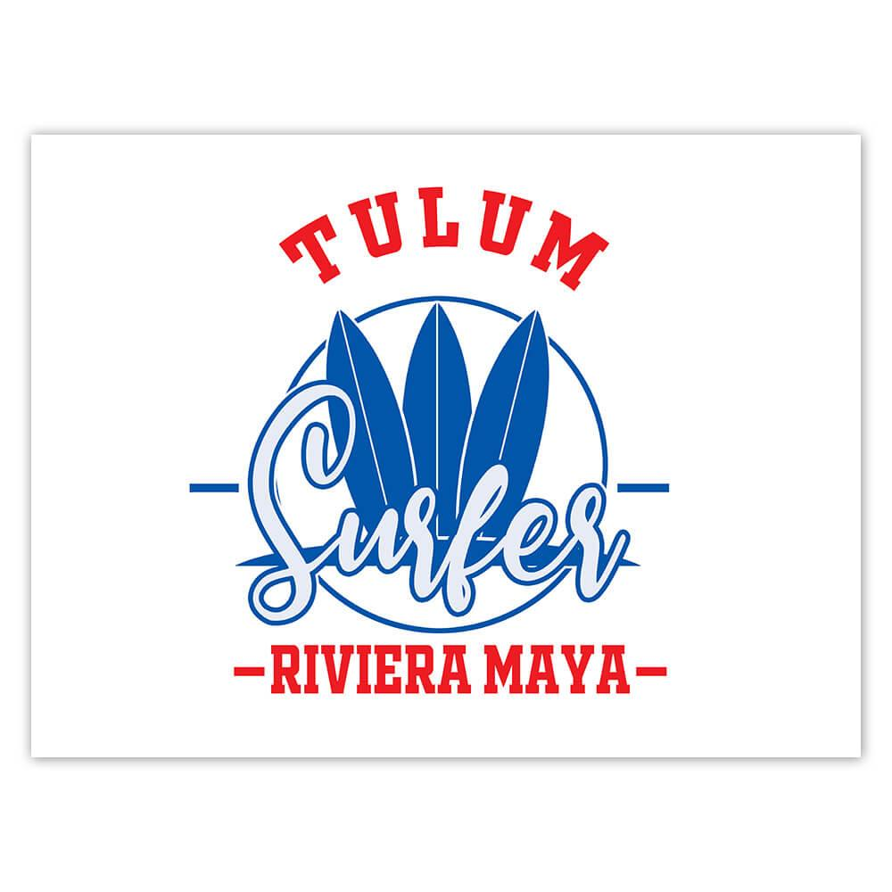 Tulum Surfer Riviera Maya : Gift Sticker Tropical Beach Travel Vacation Surfing