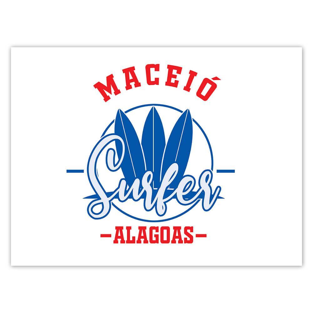 Maceio Surfer Brazil : Gift Sticker Tropical Beach Travel Vacation Surfing