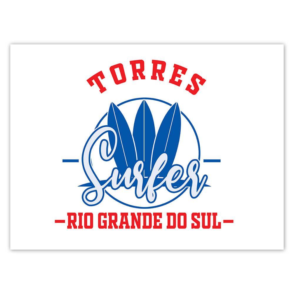 Torres Surfer Brazil : Gift Sticker Tropical Beach Travel Vacation Surfing