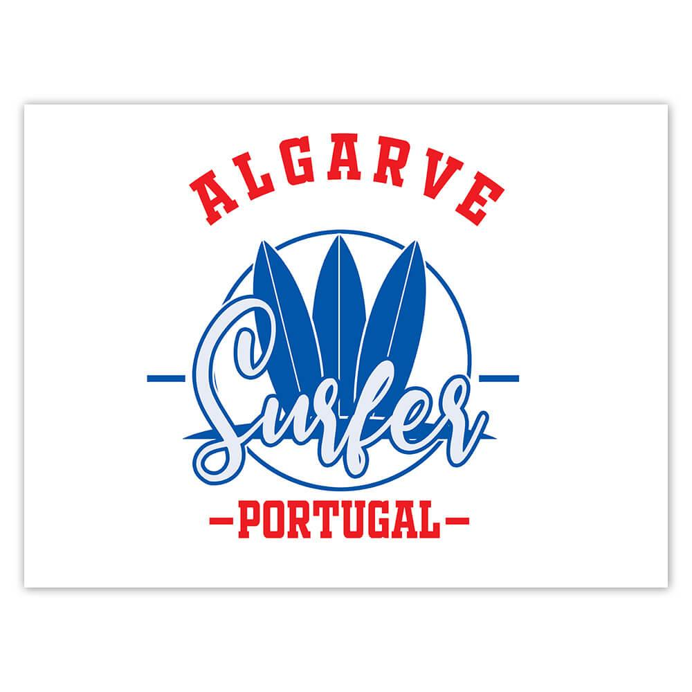 Algarve Surfer Portugal : Gift Sticker Tropical Beach Travel Vacation Surfing