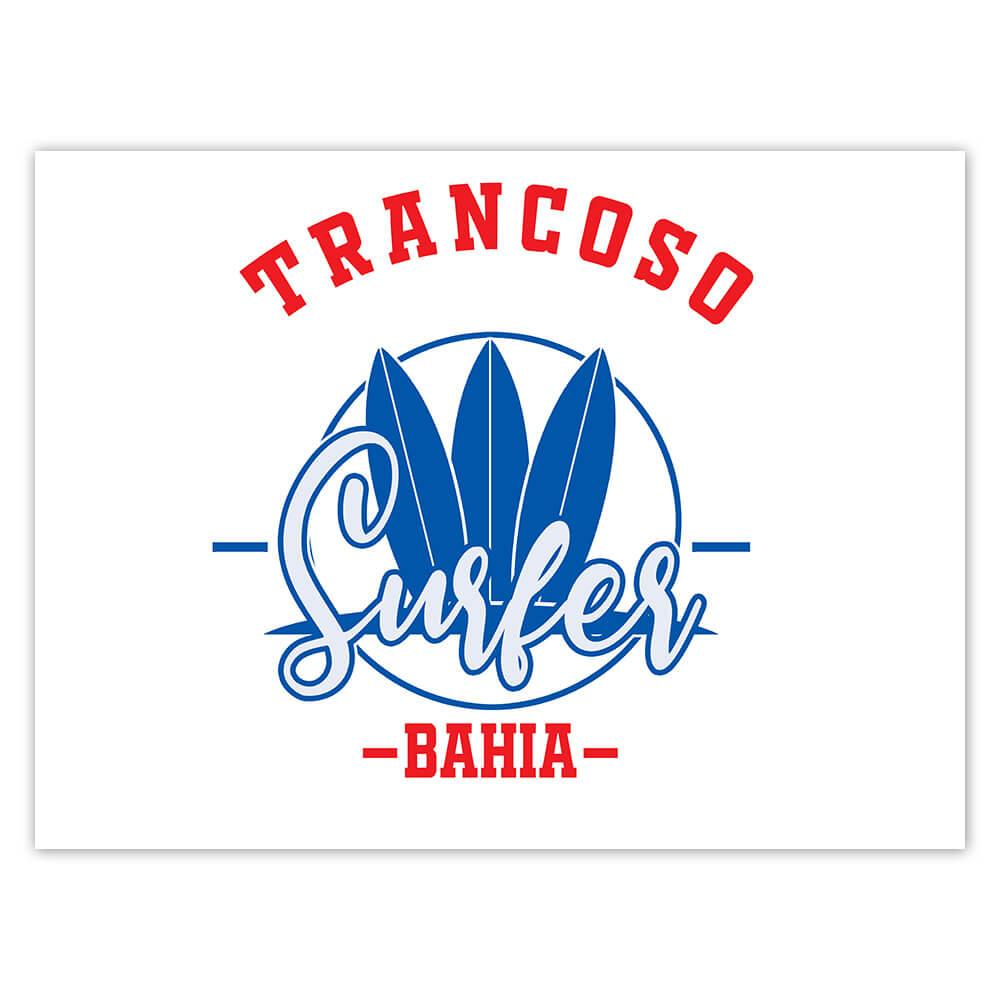 Trancoso Surfer Brazil : Gift Sticker Tropical Beach Travel Vacation Surfing