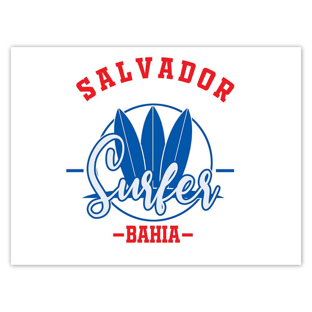 Salvador Surfer Brazil : Gift Sticker Tropical Beach Travel Vacation Surfing