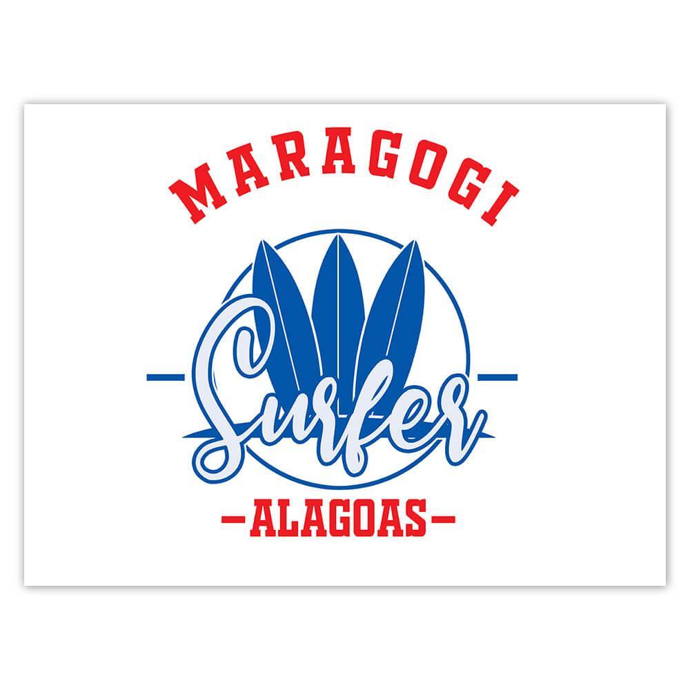 Maragogi Surfer Brazil : Gift Sticker Tropical Beach Travel Vacation Surfing