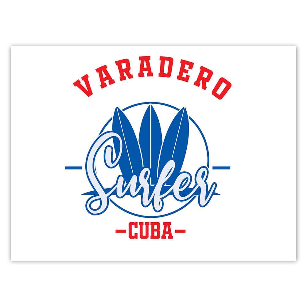 Varadero Surfer Cuba : Gift Sticker Tropical Beach Travel Vacation Surfing