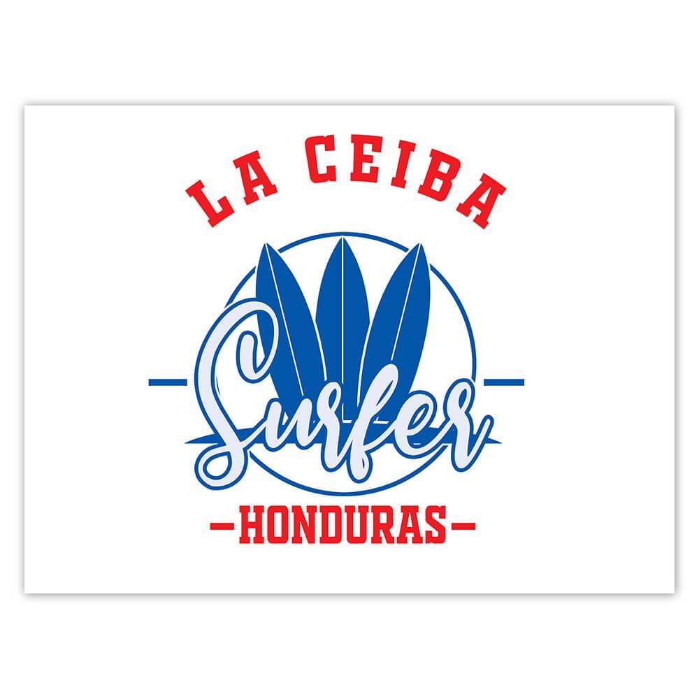 La Ceiba Surfer Honduras : Gift Sticker Tropical Beach Travel Vacation Surfing