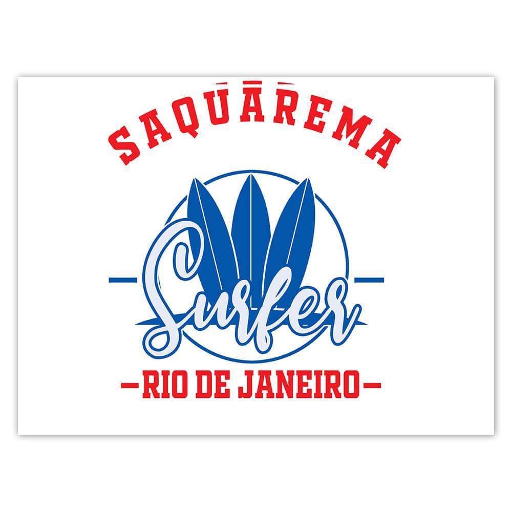 Saquarema Surfer Brazil : Gift Sticker Tropical Beach Travel Vacation Surfing