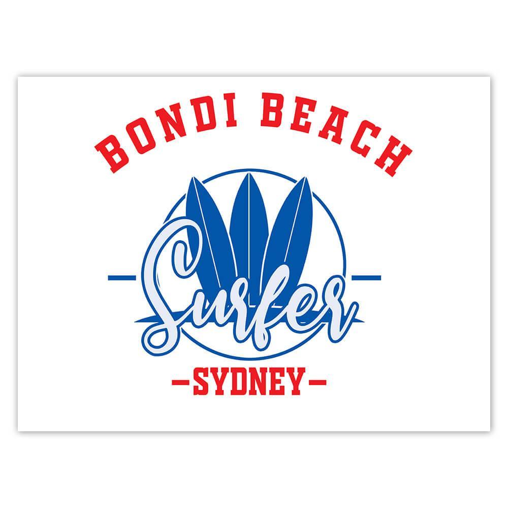 Bondi Beach Surfer Sydney : Gift Sticker Tropical Travel Vacation Surfing