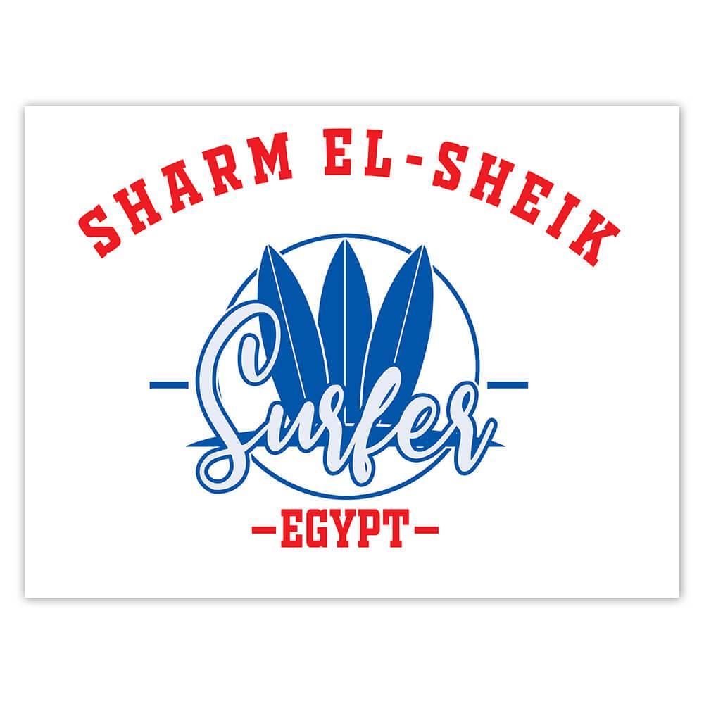 Sharm El Sheik Surfer Egypt : Gift Sticker Tropical Beach Travel Vacation Surfing