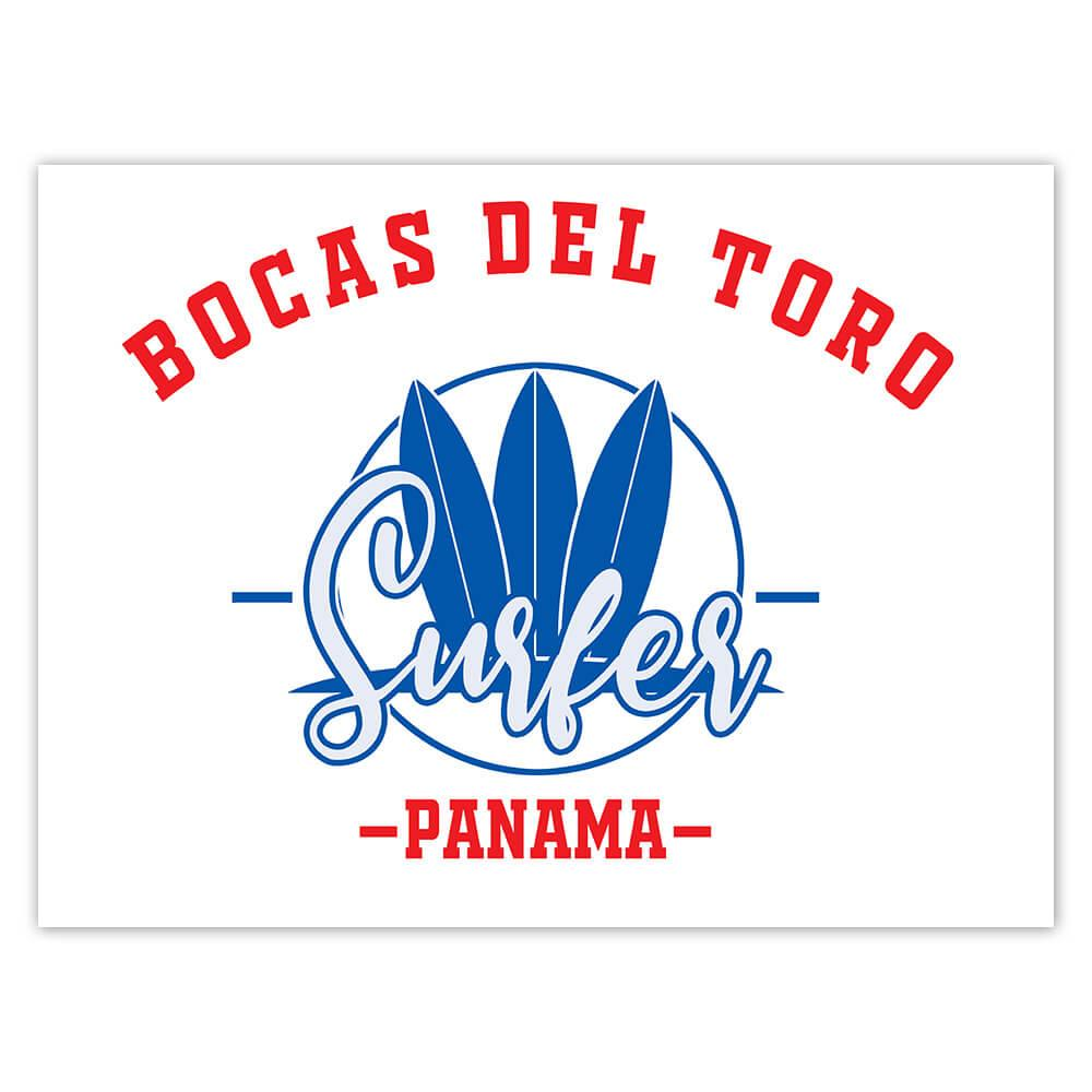 Bocas del Toro Surfer Panama : Gift Sticker Tropical Beach Travel Vacation Surfing