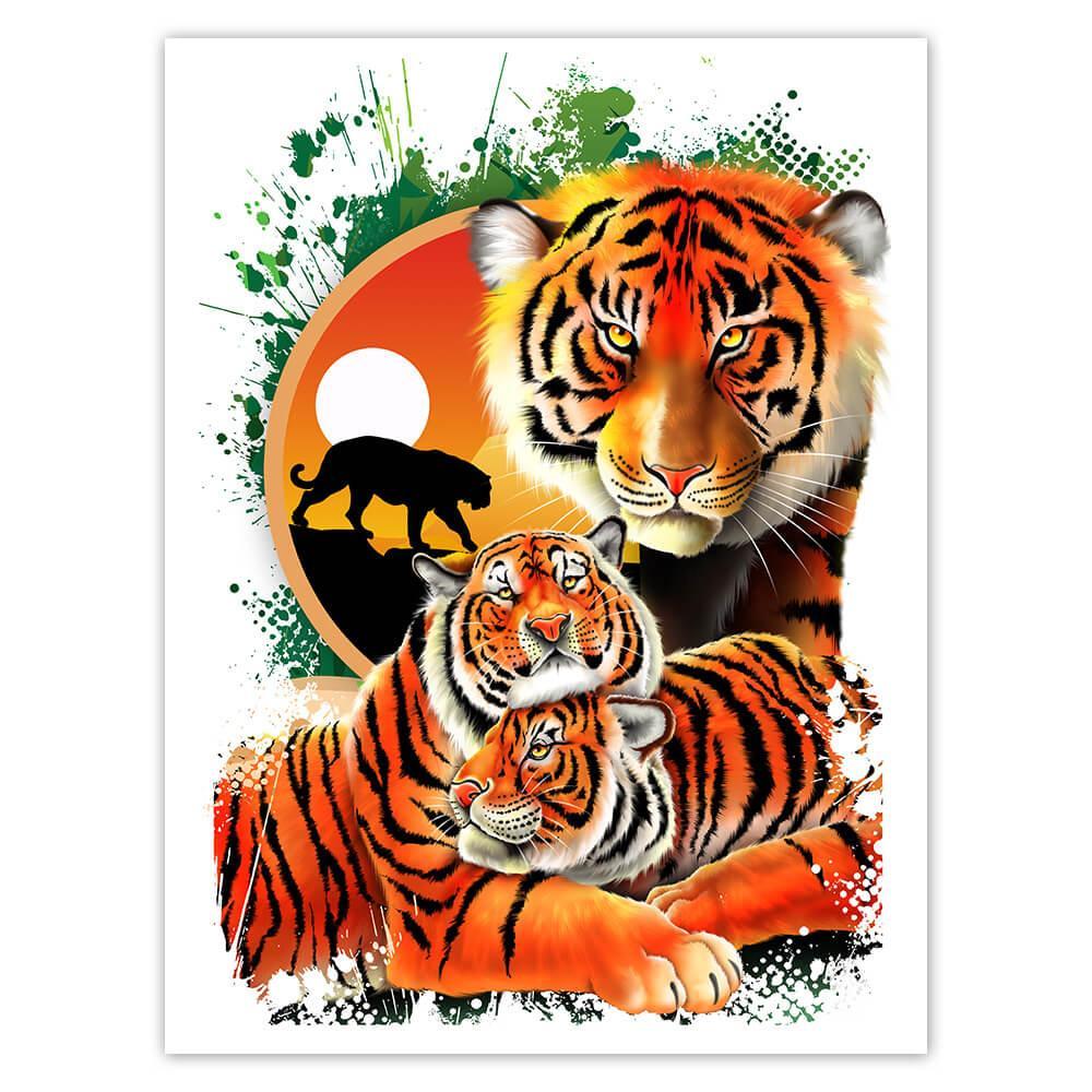 Tiger : Gift Sticker Wild Animals Wildlife Fauna Safari Endangered Species