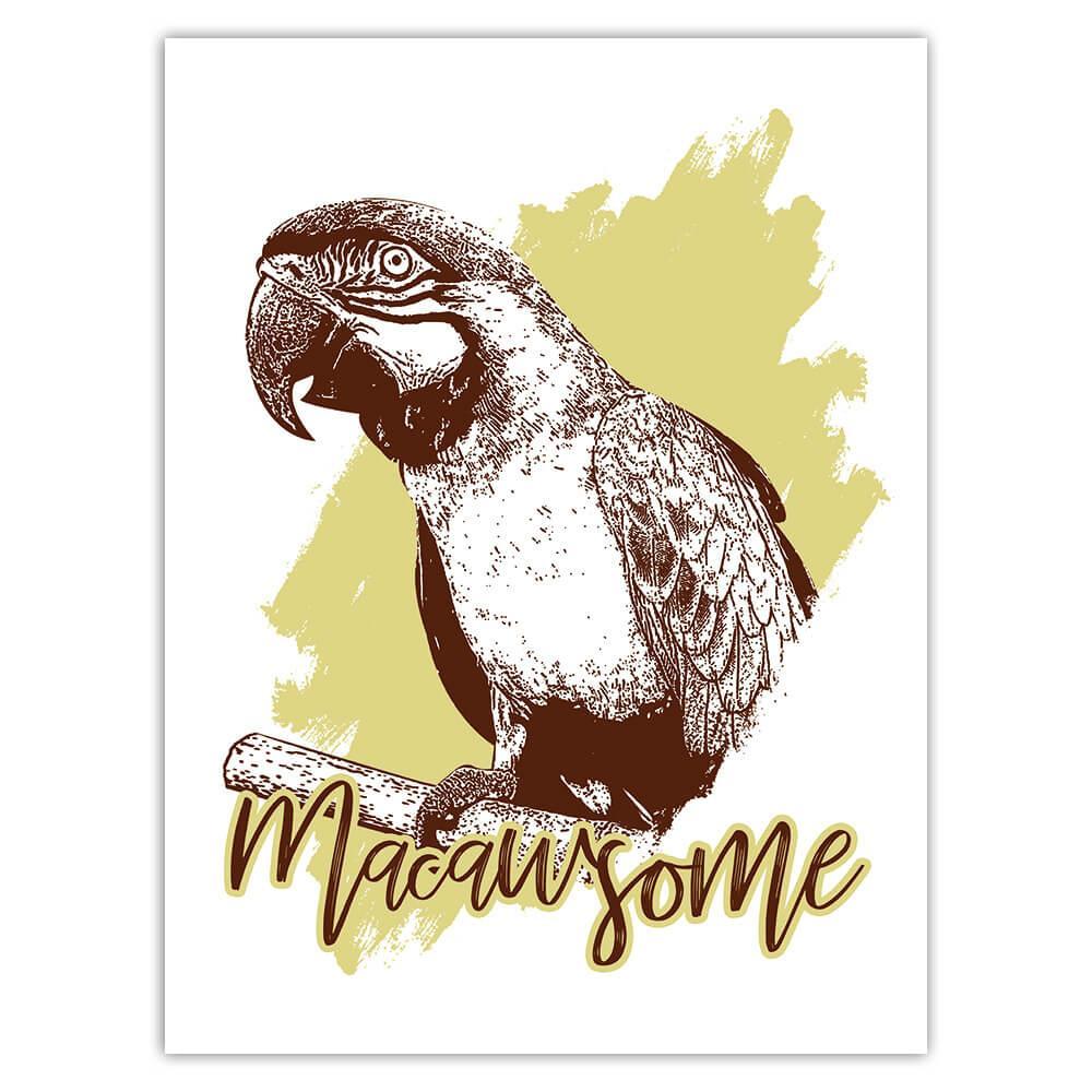 Macaw Nature Eco Ecology : Gift Sticker Wild Animals Wildlife Fauna Safari Species Ecological
