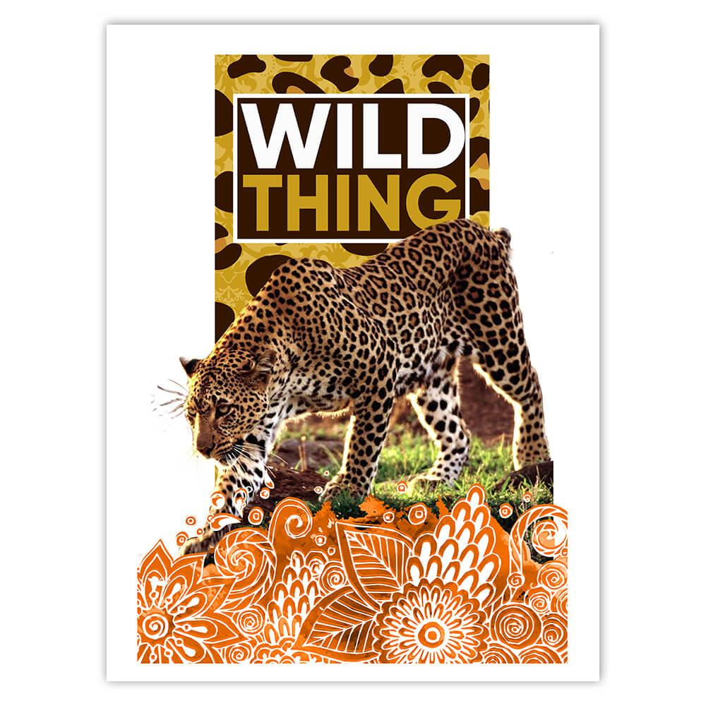 Cheetah Mandala Animal Print Nature : Gift Sticker Wild Animals Wildlife Fauna Safari Species