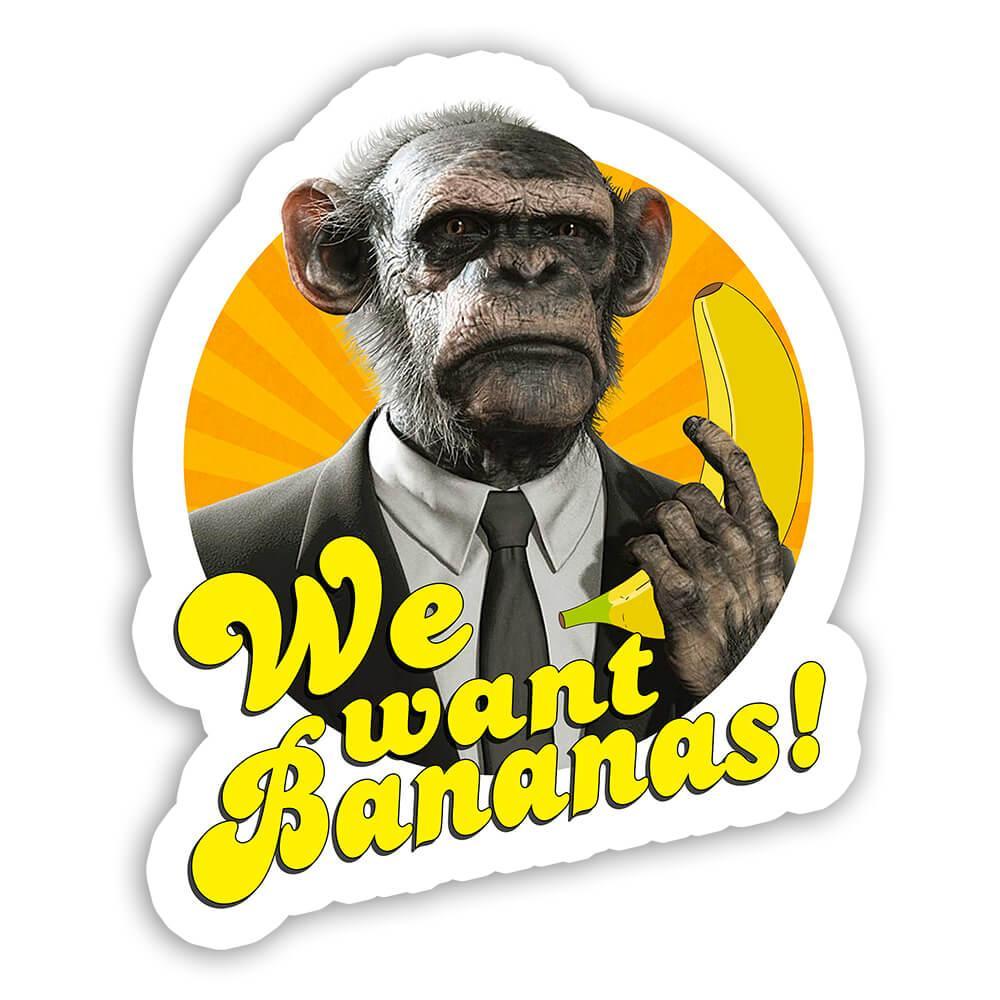 Funny Monkey Suit Banana : Gift Sticker Animal Ape Chimp Humor