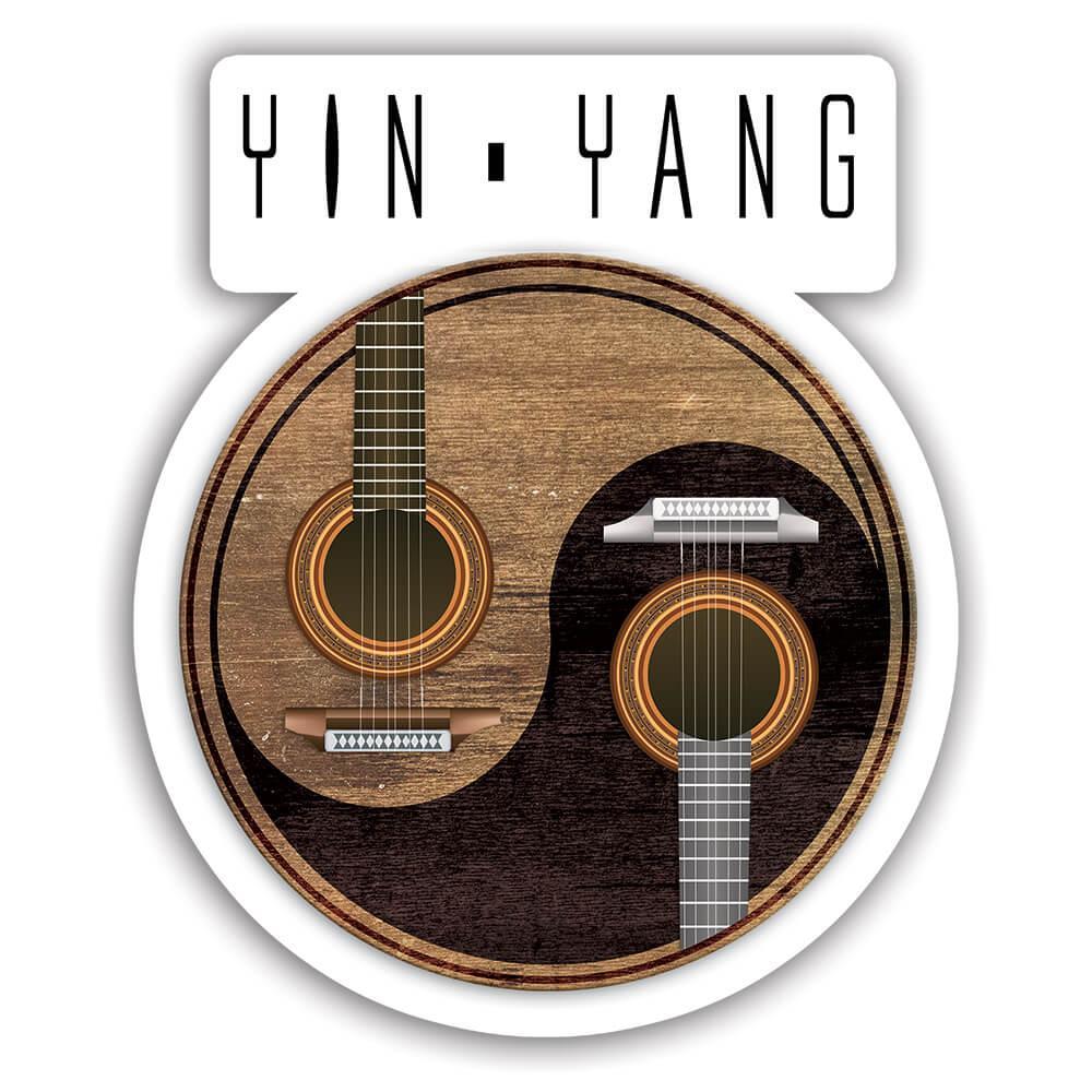 Classical Guitars Musical Wall Art : Gift Sticker Yin Yang Wooden Home Decor Musician