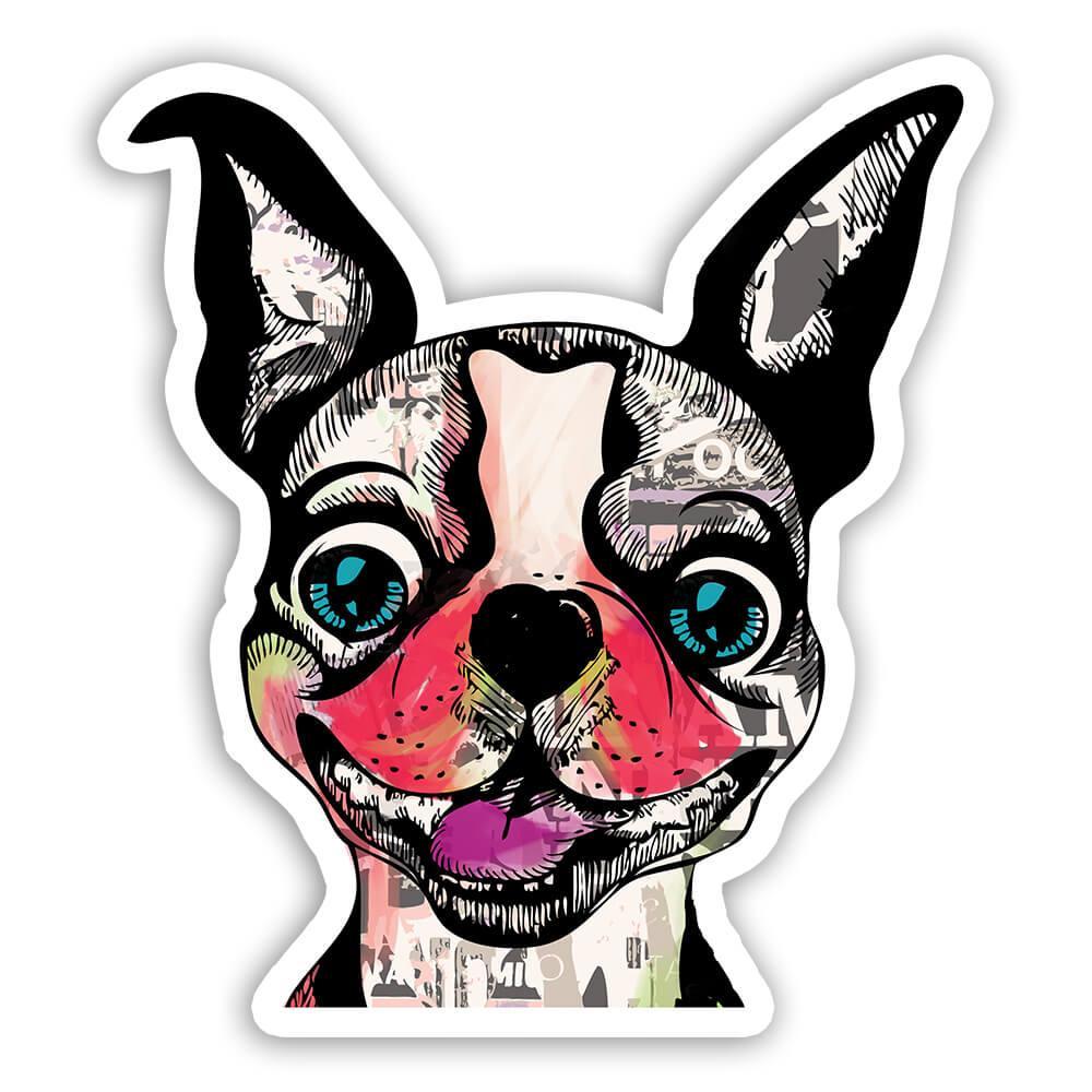 French Bulldog Collage : Gift Sticker Urban Artistic Art Patchwork Pencil Sketch Dog Dogs