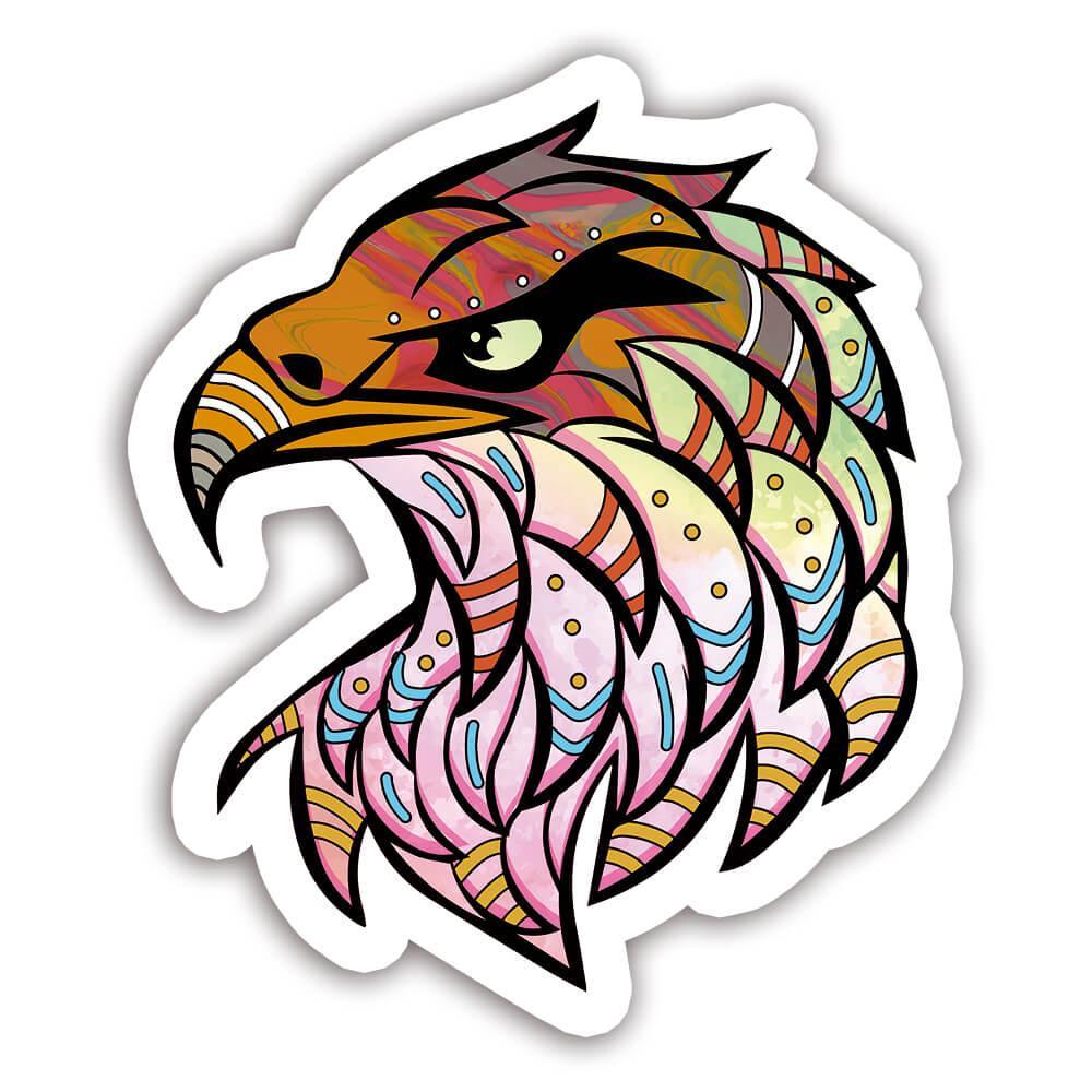 Eagle Colorful Tribal : Gift Sticker Wild Animals Wildlife Fauna Safari Species Nature