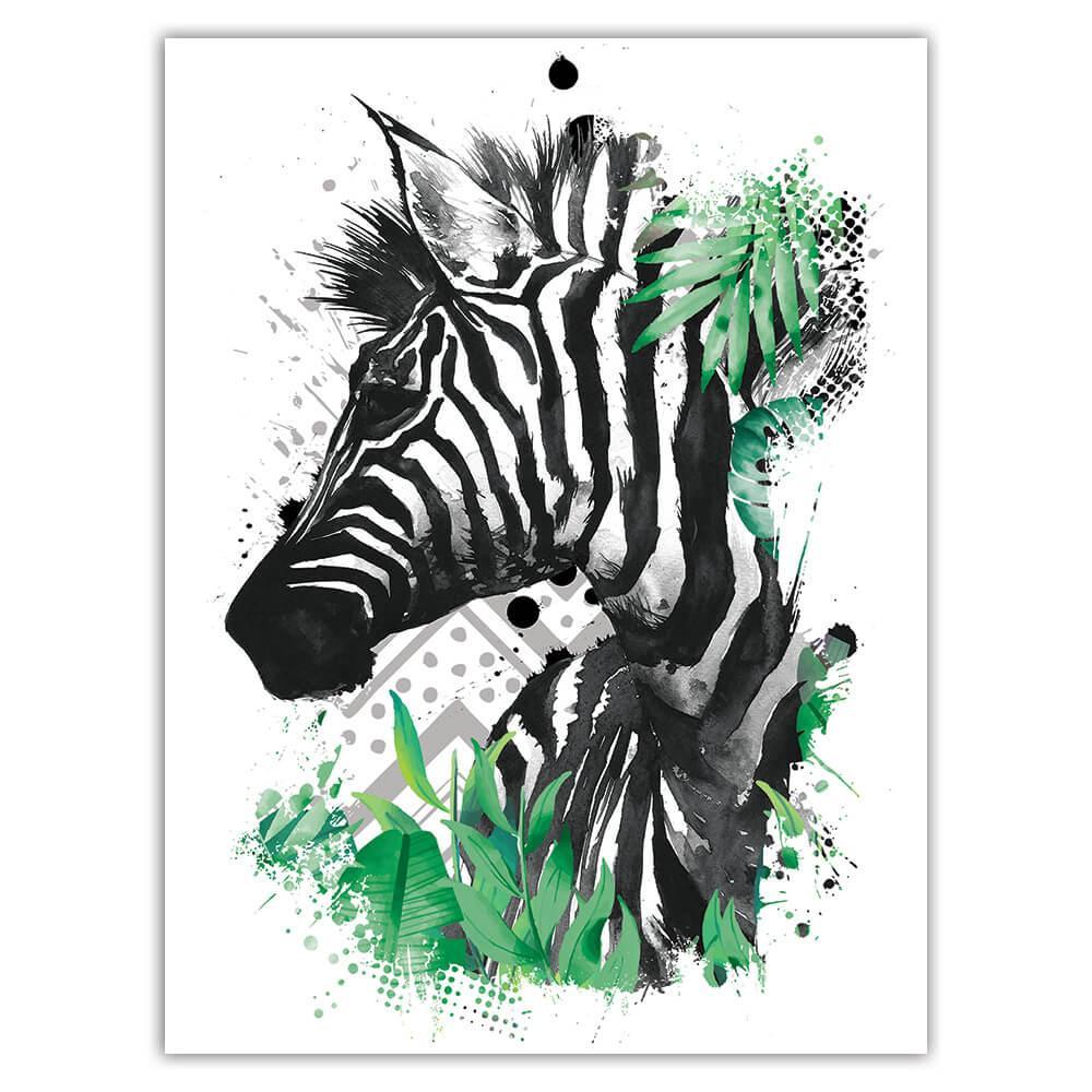 Zebra Chevron : Gift Sticker Wild Animals Wildlife Fauna Safari Species