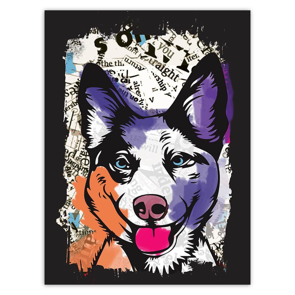Siberian Husky Collage : Gift Sticker Urban Artistic Art Patchwork Pencil Sketch Dog Dogs