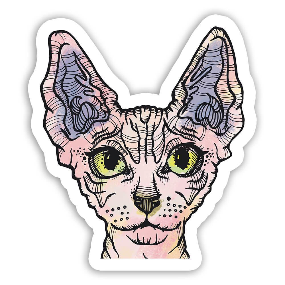 Cat Collage : Gift Sticker Urban Artistic Art Patchwork Pencil Sketch Feline Kitten Cats
