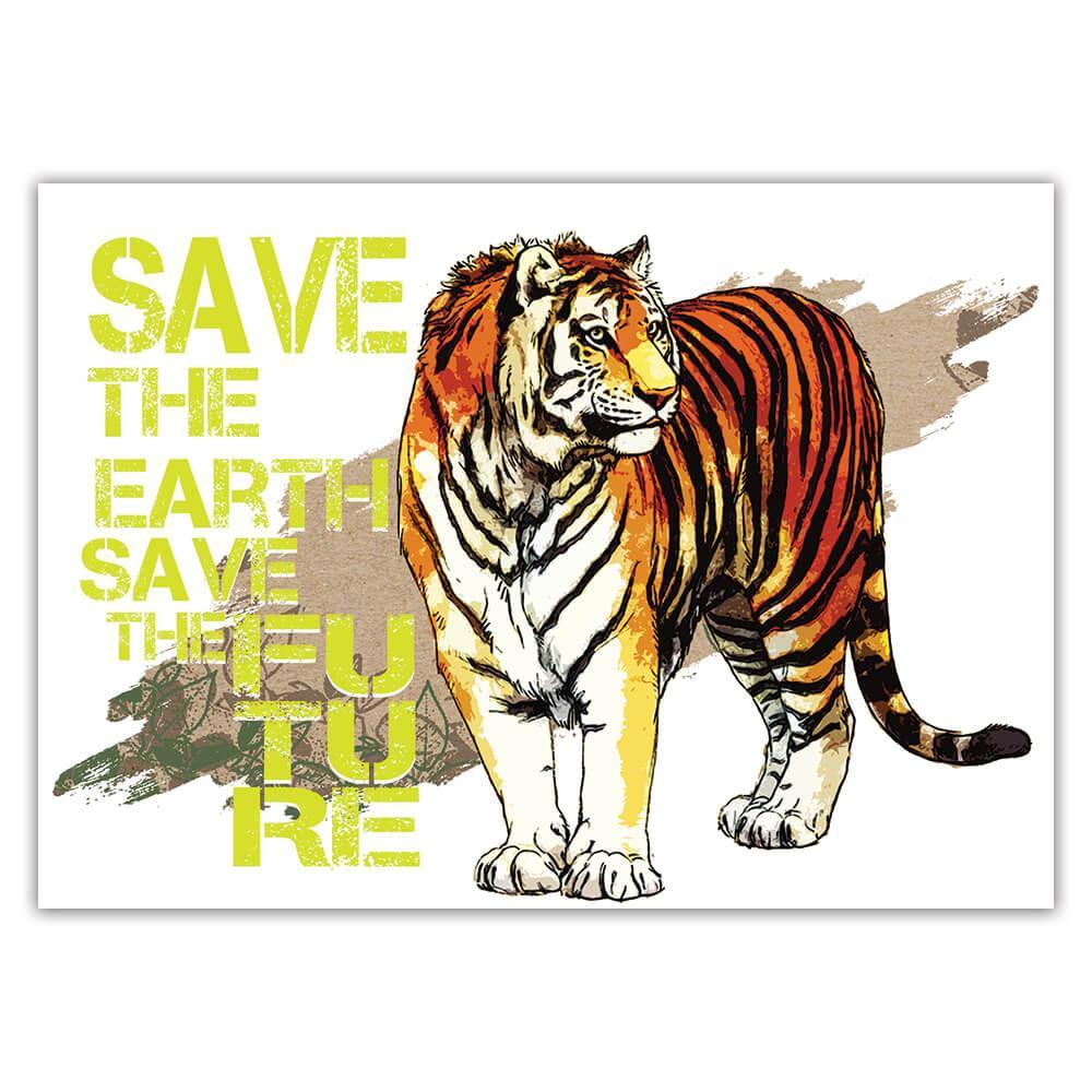 Tiger Nature Eco Ecology : Gift Sticker Wild Animals Wildlife Fauna Safari Species Ecological