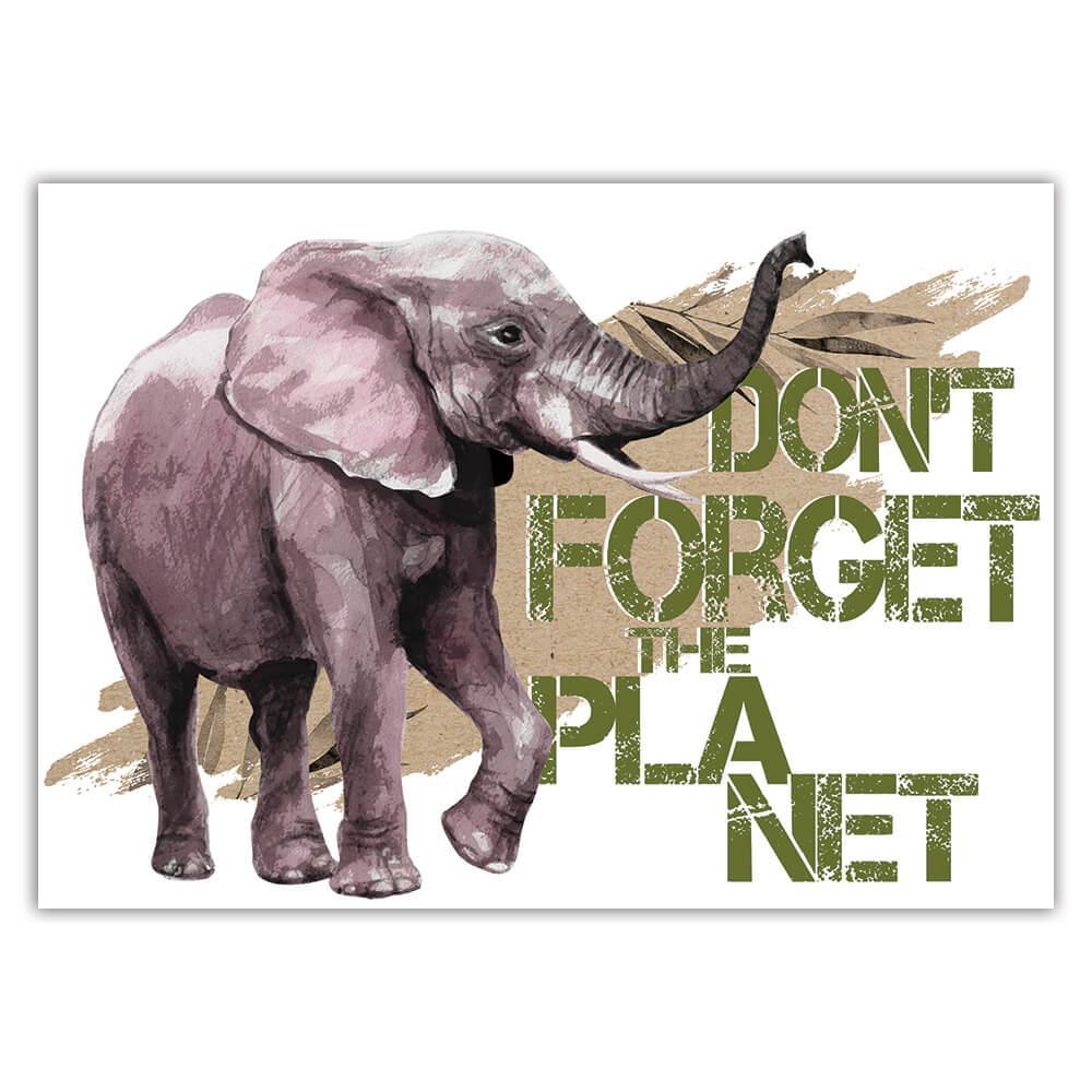 Elephant Nature Eco Ecology : Gift Sticker Wild Animals Wildlife Fauna Safari Species Ecological