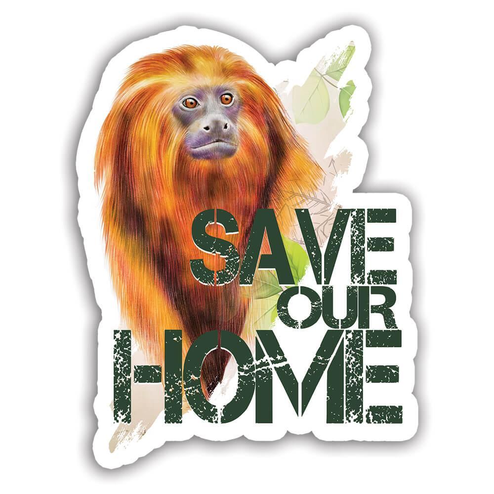 Golden Lion Tamarin Nature Eco Ecology : Gift Sticker Wild Animals Wildlife Fauna Safari Endangered Species Ecological