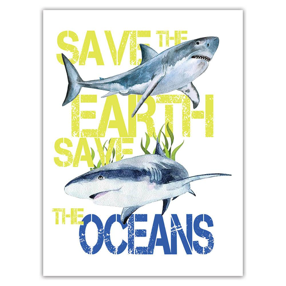 Shark Nature Eco Ecology : Gift Sticker Wild Animals Wildlife Fauna Safari Species Ecological