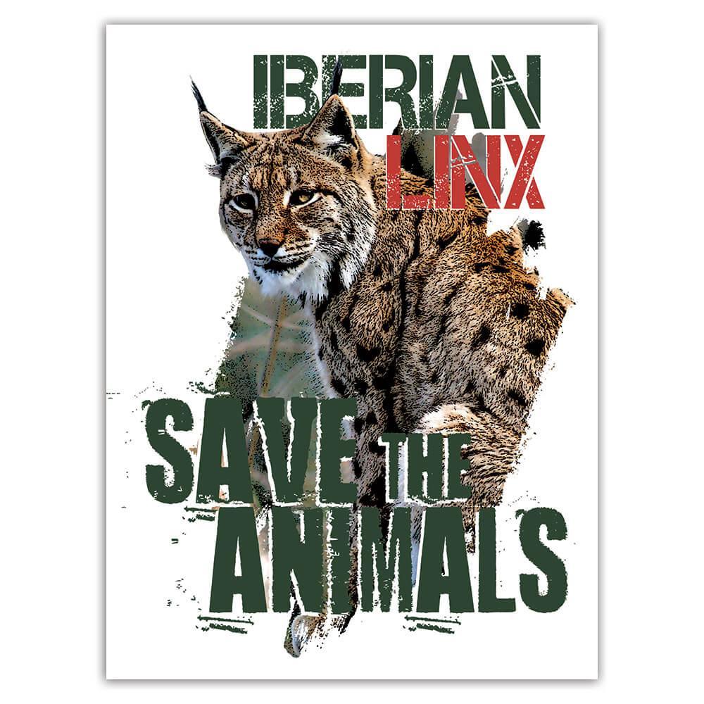 Iberian Linx Nature Eco Ecology : Gift Sticker Wild Animals Wildlife Fauna Safari Species Ecological