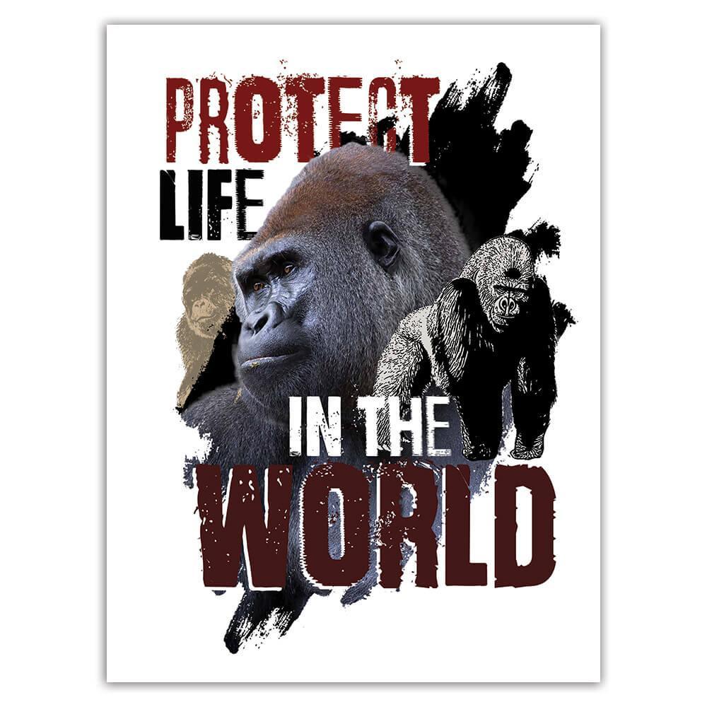 Gorilla Nature Eco Ecology : Gift Sticker Wild Animals Wildlife Fauna Safari Species Ecological