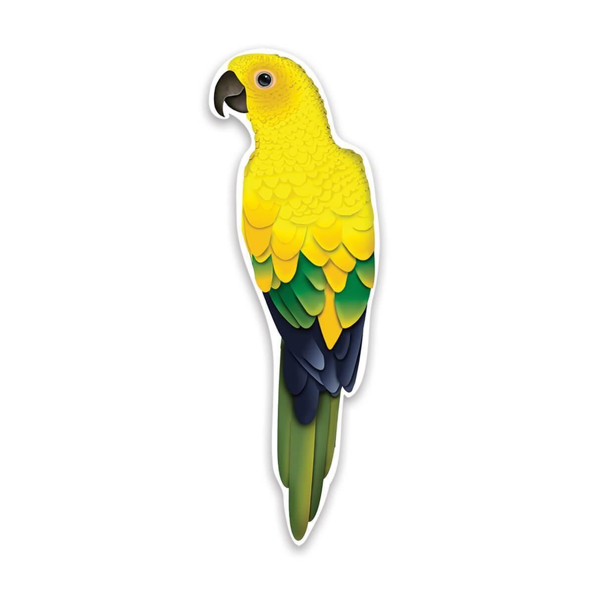 Yellow Parrot : Gift Sticker Tropical Bird Watcher Airbrush