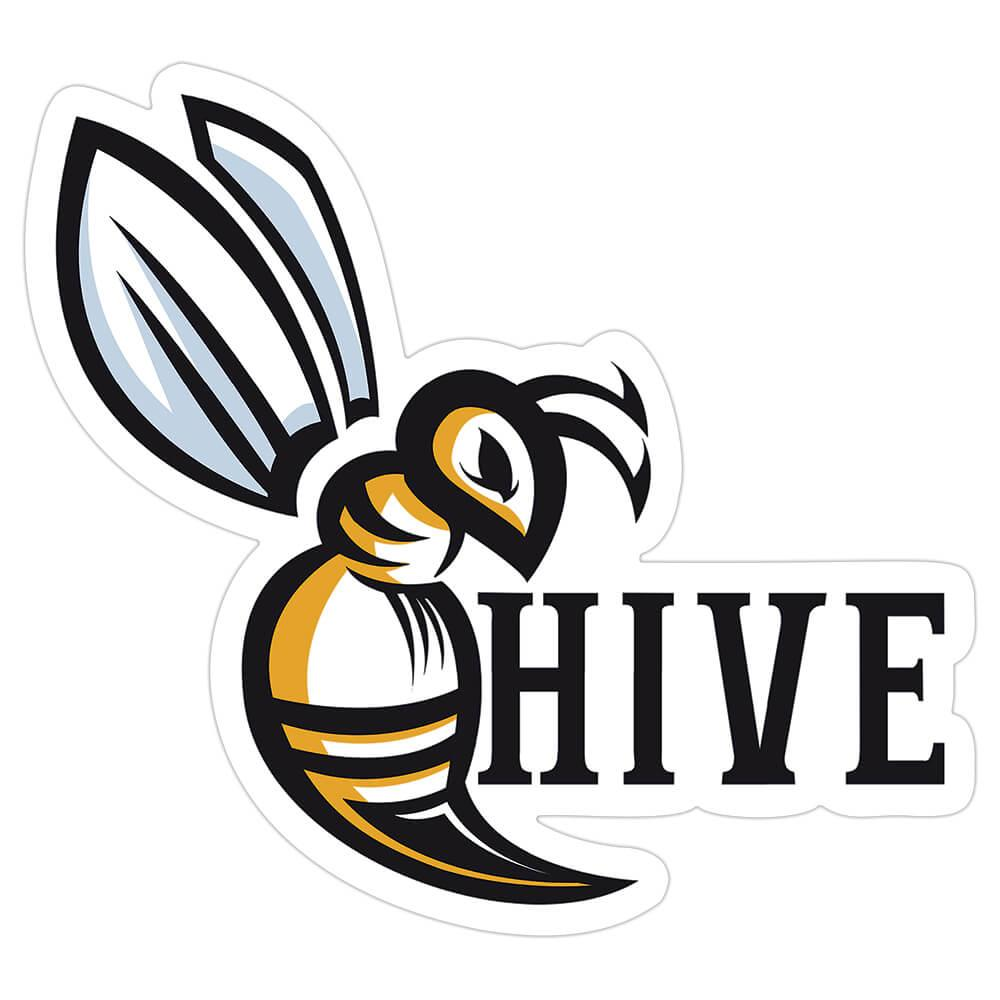 Bee Hive : Gift Sticker Geek Computer Games Bumblebee Ecology Beekeeper