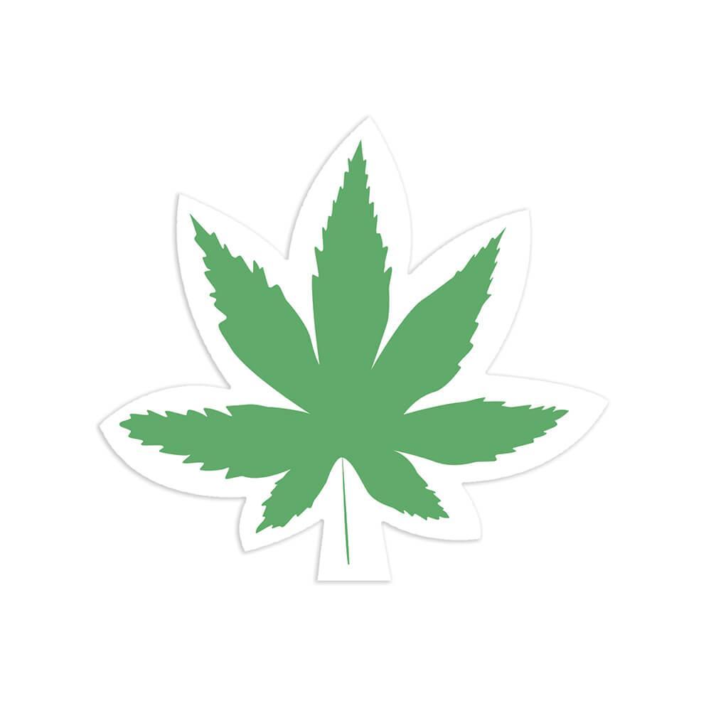 Weed Leaf : Gift Sticker Cannabis Marijuana Stoner Adult Fun