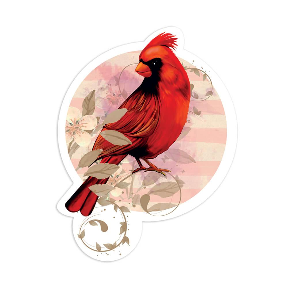 Personalized Cardinal Mug : Gift Sticker Name Bird Grieving Loved One Customizable