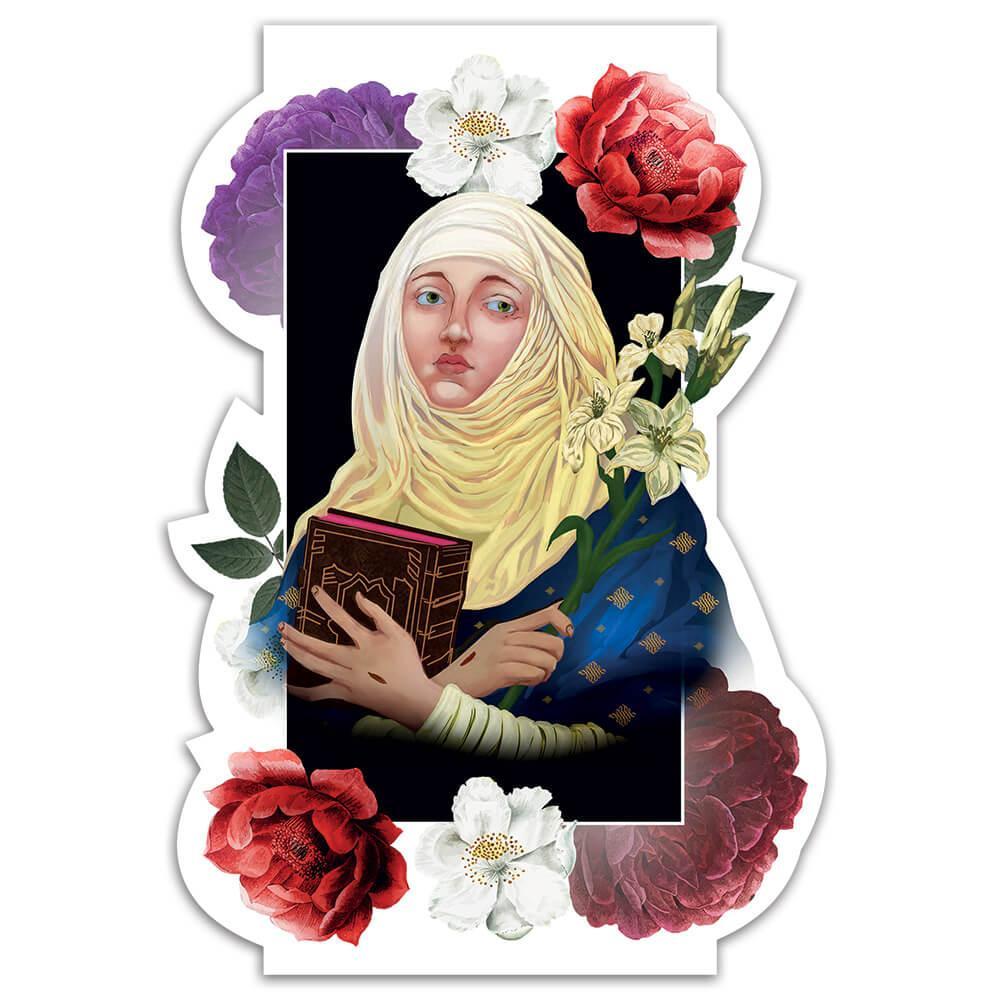 Saint Caterina De Ricci : Gift Sticker Catholic Christian Flowers Church Religious Poster