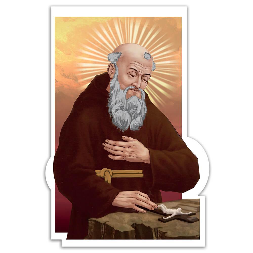 Saint Joseph Of Leonessa : Gift Sticker Catholic Church Crucifix Christian Faith Religious