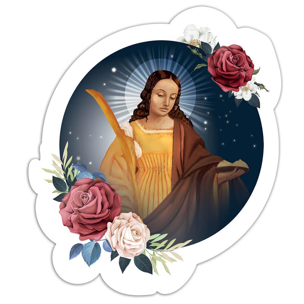Saint Agatha : Gift Sticker Catholic Church Sicily Religion Christian Roses Home Poster