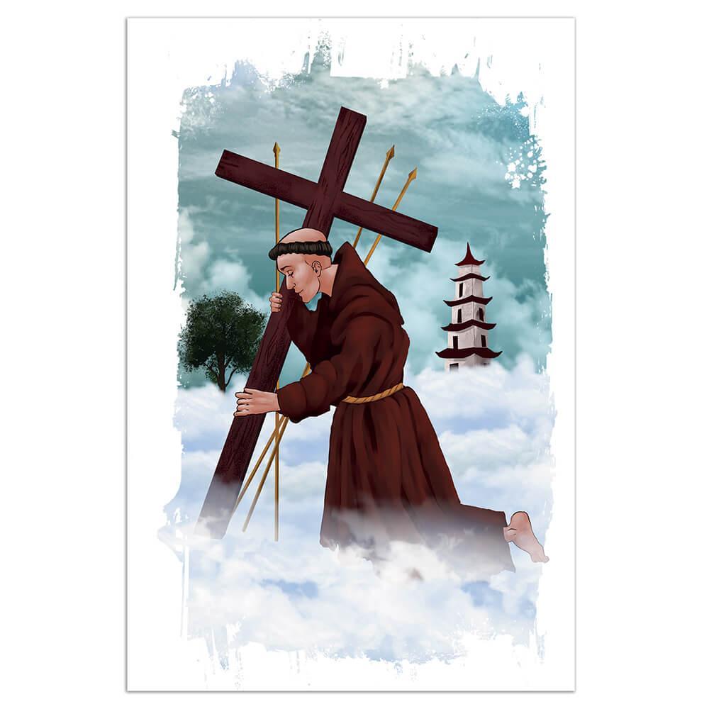 Saint Philip Of Jesus Felipe De : Gift Sticker Catholic Church Mexican Cross Faith