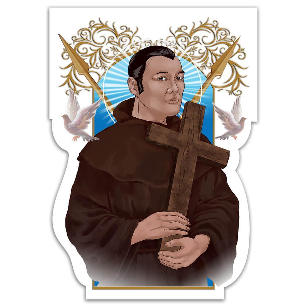 Saint Paul Miki : Gift Sticker Catholic Japanese Martyr Religious Christian Faith