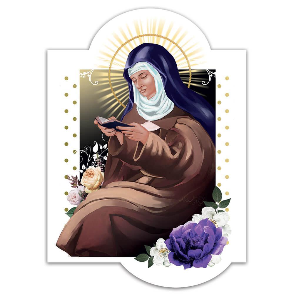 Saint Colette Of Corbie : Gift Sticker Catholic Church Christian Religious Flower Decor
