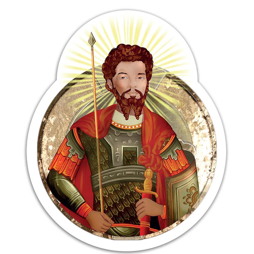 Saint Theodore Stratelates : Gift Sticker Catholic Warrior Christian Religious Church